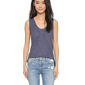 {Madewell} Anthem Tank in Heather Ink Size XS NWT
